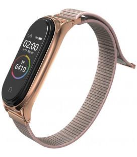 """Rausvai auksinės spalvos apyrankė Xiaomi Mi Smart Band 5 laikrodžiui """"Tech-Protect Nylon"""""""