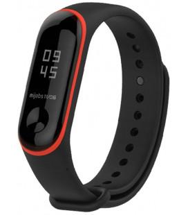 """Juoda/raudona apyrankė Xiaomi Mi Band 3/4 laikrodžiui """"Tech-Protect Smooth"""""""