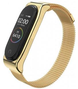 """Auksinės spalvos apyrankė Xiaomi Mi Band 3/4 laikrodžiui """"Tech-Protect Milaneseband"""""""