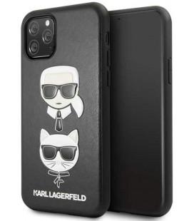 "Juodas dėklas Apple iPhone 11 Pro telefonui ""KLHCN58KICKC Karl Lagerfeld & Choupette Cover"""