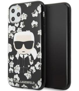 "Juodas dėklas Apple iPhone 11 Pro telefonui ""KLHCN58FLFBBK Karl Lagerfeld TPU Flower Cover"""