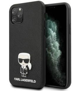 "Juodas dėklas Apple iPhone 11 Pro telefonui ""KLHCN58IKFBMBK Karl Lagerfeld Saffiano Iconik Cover"""