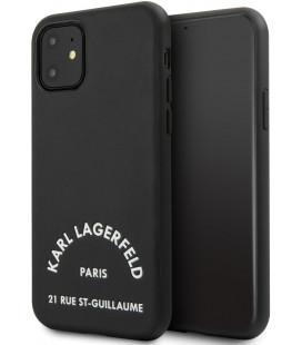 "Juodas dėklas Apple iPhone 11 telefonui ""KLHCN61NYBK Karl Lagerfeld Rue St Gullaume Cover"""
