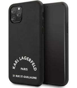 "Juodas dėklas Apple iPhone 11 Pro Max telefonui ""KLHCN65NYBK Karl Lagerfeld Rue St Gullaume Cover"""