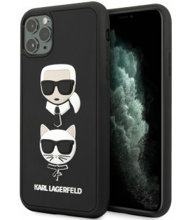 "Juodas dėklas Apple iPhone 11 Pro telefonui ""KLHCN58IK3DKC Karl Lagerfeld 3D Rubber Heads Cover"""