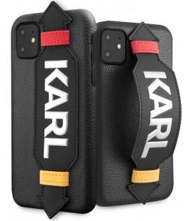 "Juodas dėklas Apple iPhone 11 telefonui ""KLHCN61HDAWBK Karl Lagerfeld Strap Cover"""