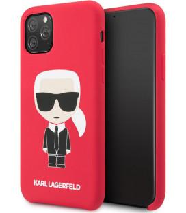 "Raudonas dėklas Apple iPhone 11 Pro telefonui ""KLHCN58SLFKRE Karl Lagerfeld Iconic Body Cover"""