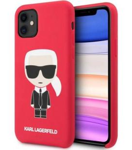 "Raudonas dėklas Apple iPhone 11 telefonui ""KLHCN61SLFKRE Karl Lagerfeld Iconic Body Cover"""