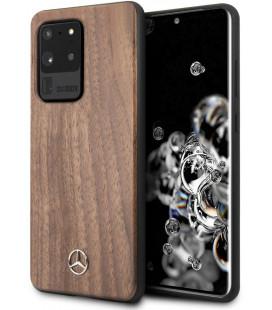 "Rudas dėklas Samsung Galaxy S20 Ultra telefonui ""MEHCS69VWOLB Mercedes Wood Cover"""