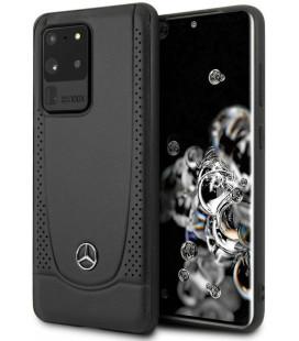 "Juodas dėklas Samsung Galaxy S20 Ultra telefonui ""MEHCS69ARMBK Mercedes Perforation Cover"""