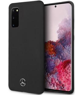 "Juodas dėklas Samsung Galaxy S20 telefonui ""MEHCS62SILSB Mercedes Silicone Cover"""