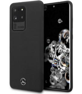 "Juodas dėklas Samsung Galaxy S20 Ultra telefonui ""MEHCS69SILSB Mercedes Silicone Cover"""