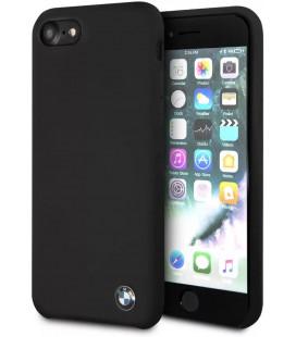 "Juodas dėklas Apple iPhone 8/SE 2020 telefonui ""BHMCI8SILBK BMW Signature Silicon Hard Cover"""
