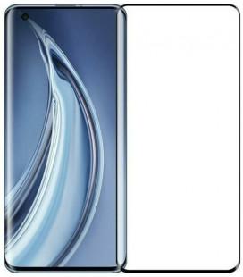 """5D Lenktas juodas apsauginis grūdintas stiklas Xiaomi Mi 10 / 10 Pro telefonui """"Full Glue"""""""