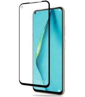 """5D Lenktas juodas apsauginis grūdintas stiklas Huawei P40 Lite telefonui """"Full Glue"""""""