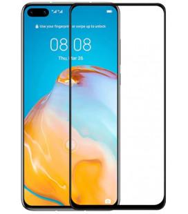 """5D Lenktas juodas apsauginis grūdintas stiklas Huawei P40 Pro telefonui """"Full Glue"""""""