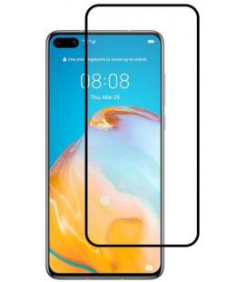 """5D Lenktas juodas apsauginis grūdintas stiklas Huawei P40 telefonui """"Full Glue"""""""