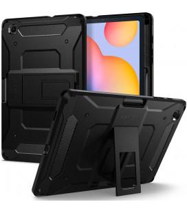 "Juodas dėklas Samsung Galaxy S6 Lite 10.4 P610/P615 planšetei ""Spigen Tough Armor Pro"""