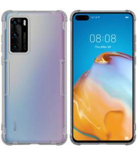 """Skaidrus/pilkas dėklas Huawei P40 telefonui """"Nillkin Nature"""""""