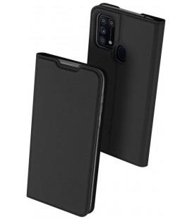 """Juodas atverčiamas dėklas Samsung Galaxy M31 telefonui """"Dux Ducis Skin Pro"""""""