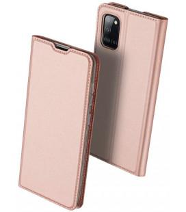 """Rausvai auksinės spalvos atverčiamas dėklas Samsung Galaxy A31 telefonui """"Dux Ducis Skin Pro"""""""