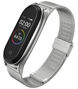 """Sidabrinės spalvos apyrankė Xiaomi Mi Smart Band 5 laikrodžiui """"Tech-Protect Milaneseband"""""""