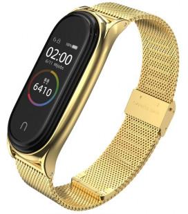 """Auksinės spalvos apyrankė Xiaomi Mi Smart Band 5 laikrodžiui """"Tech-Protect Milaneseband"""""""