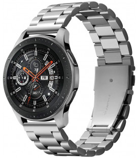 "Sidabrinės spalvos apyrankė Samsung Galaxy Watch 46mm laikrodžiui ""Spigen Modern Fit Band"""