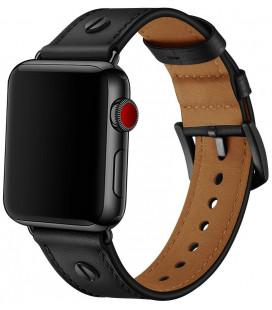 """Juoda apyrankė Apple Watch 1/2/3/4/5 (42/44mm) laikrodžiui """"Tech-Protect Screwband"""""""
