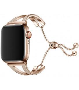 """Auksinės spalvos apyrankė Apple Watch 1/2/3/4/5 (42/44mm) laikrodžiui """"Tech-Protect Chainband"""""""