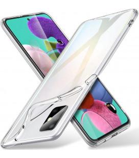 Skaidrus plonas 0,3mm silikoninis dėklas Samsung Galaxy A41 telefonui