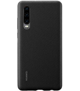 """Originalus juodas dėklas Huawei P30 telefonui """"PU Car Case"""""""