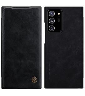 """Odinis juodas atverčiamas dėklas Samsung Galaxy Note 20 Ultra telefonui """"Nillkin Qin"""""""