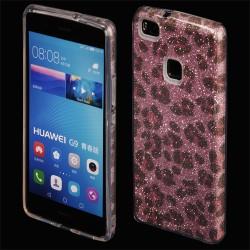 """Rožinis silikoninis blizgantis dėklas Huawei P9 Lite telefonui """"Blink Panther"""""""