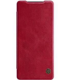 """Odinis raudonas atverčiamas dėklas Samsung Galaxy Note 20 telefonui """"Nillkin Qin"""""""
