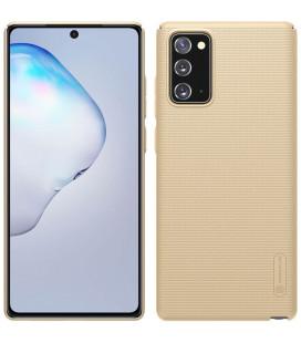 """Auksinės spalvos dėklas Samsung Galaxy Note 20 telefonui """"Nillkin Frosted Shield"""""""