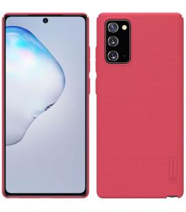 """Raudonas dėklas Samsung Galaxy Note 20 telefonui """"Nillkin Frosted Shield"""""""