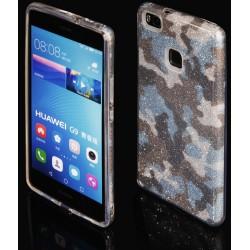 "Mėlynas silikoninis blizgantis dėklas Huawei P9 Lite telefonui ""Blink Moro"""
