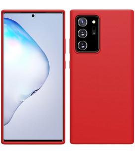 "Raudonas dėklas Samsung Galaxy Note 20 Ultra telefonui ""Nillkin Flex Pure Liquid Silicone"""
