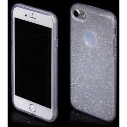 """Sidabrinės spalvos silikoninis blizgantis dėklas Apple iPhone 7 telefonui """"Blink"""""""