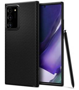 "Juodas dėklas Samsung Galaxy Note 20 Ultra telefonui ""Spigen Liquid Air"""
