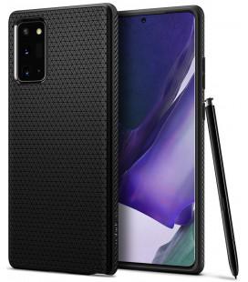 """Juodas dėklas Samsung Galaxy Note 20 telefonui """"Spigen Liquid Air"""""""