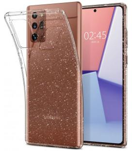 "Skaidrus dėklas su blizgučiais Samsung Galaxy Note 20 telefonui ""Spigen Liquid Crystal Glitter"""