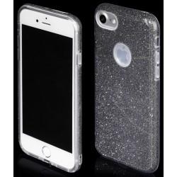 """Juodas silikoninis blizgantis dėklas Apple iPhone 7 telefonui """"Blink"""""""