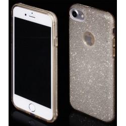 """Auksinės spalvos silikoninis blizgantis dėklas Apple iPhone 7 telefonui """"Blink"""""""