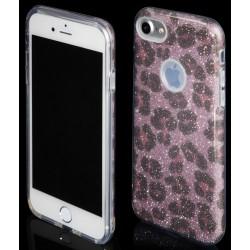 """Rožinis silikoninis blizgantis dėklas Apple iPhone 7 telefonui """"Blink Panther"""""""