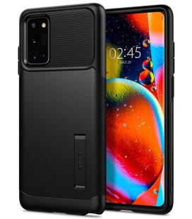 """Juodas dėklas Samsung Galaxy Note 20 telefonui """"Spigen Slim Armor"""""""
