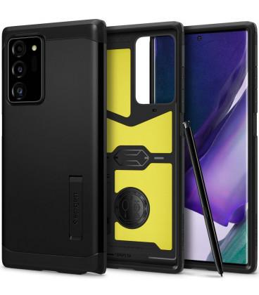 "Juodas dėklas Samsung Galaxy Note 20 Ultra telefonui ""Spigen Tough Armor"""
