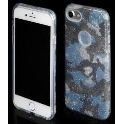 """Mėlynas silikoninis blizgantis dėklas Apple iPhone 7 telefonui """"Blink Moro"""""""