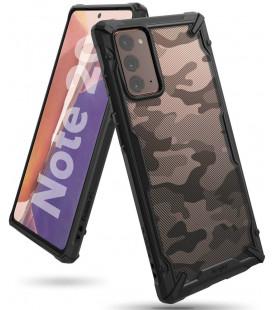 """Juodas (Camo) dėklas Samsung Galaxy Note 20 telefonui """"Ringke Fusion X"""""""